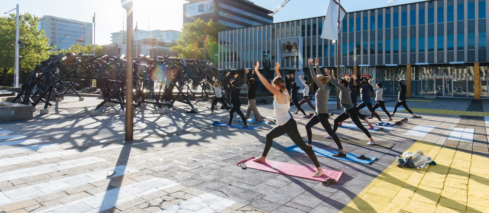 Yoga with Lululemon. Photo: Five Foot Photography
