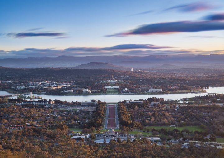 View from Mount Ainslie. Photo: Larissa Dening Photography. Credit: VisitCanberra