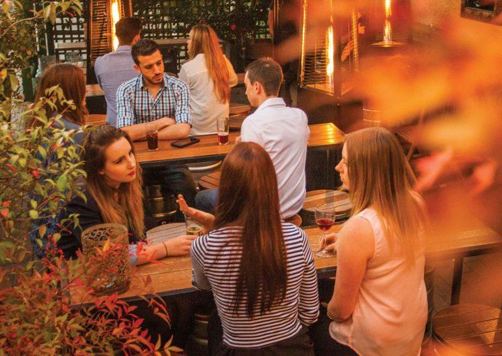 People at bar