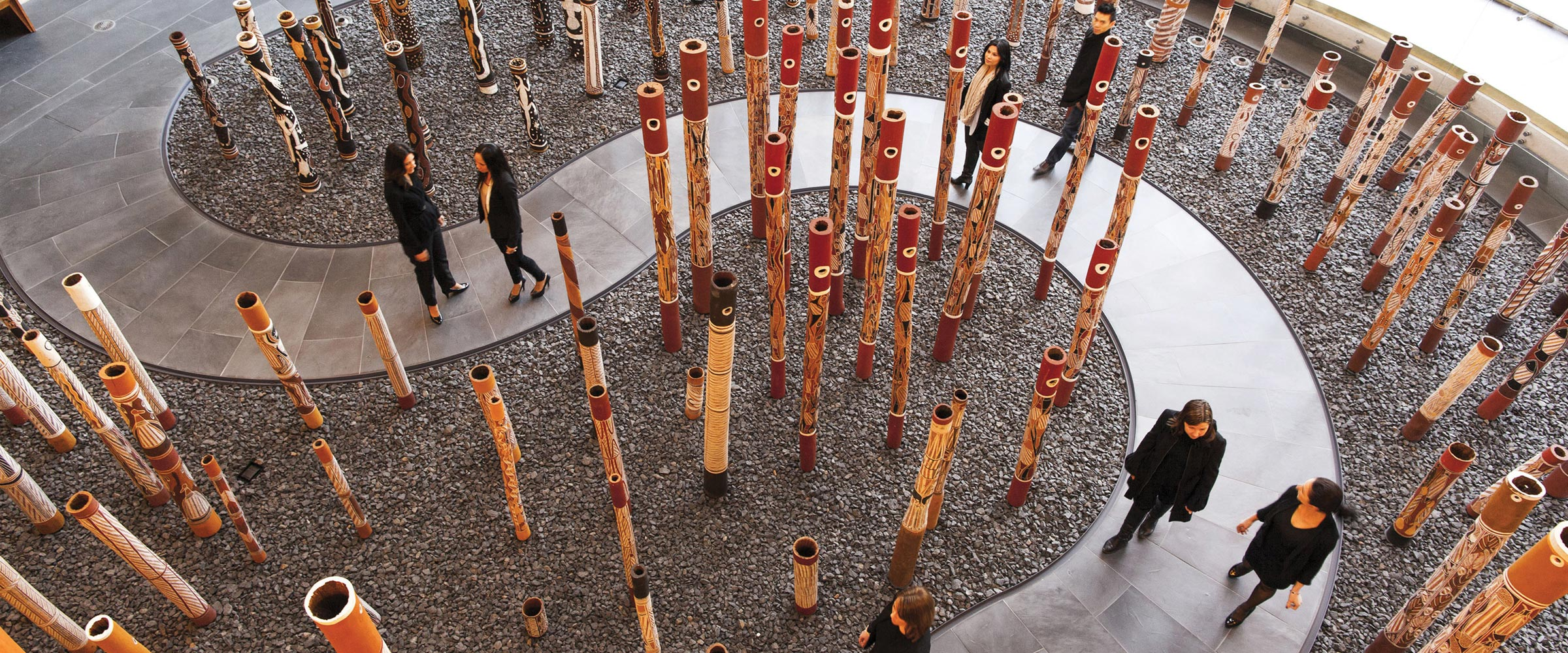 The Aboriginal Memorial at the National Gallery of Australia