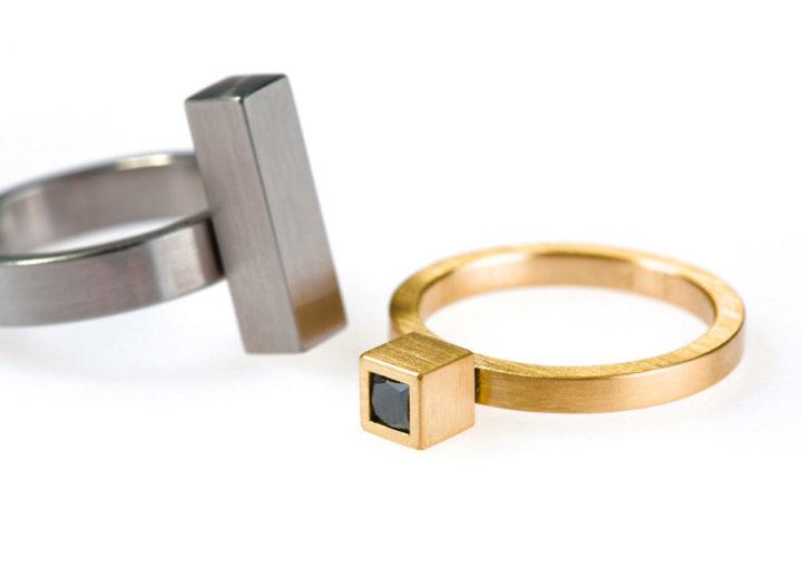Black Diamond Cubist Ring
