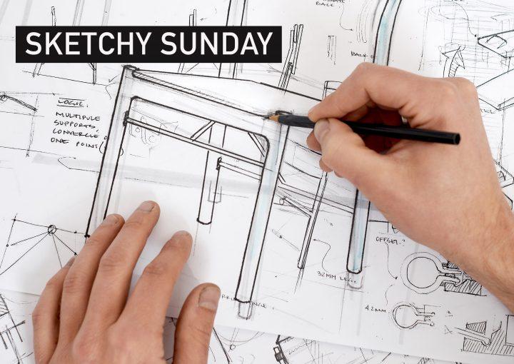 Tom Skeehan, 'Sketching process'