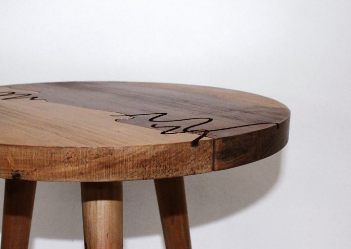 Lara Forsdick, Scribbly Gumtop side table 2016, Australian Hoop Pine, photo: Amelia Menzies
