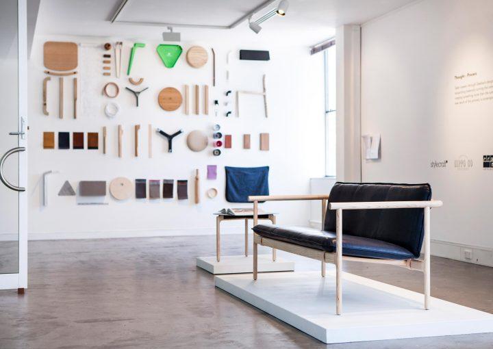 Furniture in a gallery