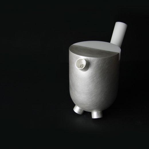 Alison Jackson, Teapot 2017, fine silver, white acrylic