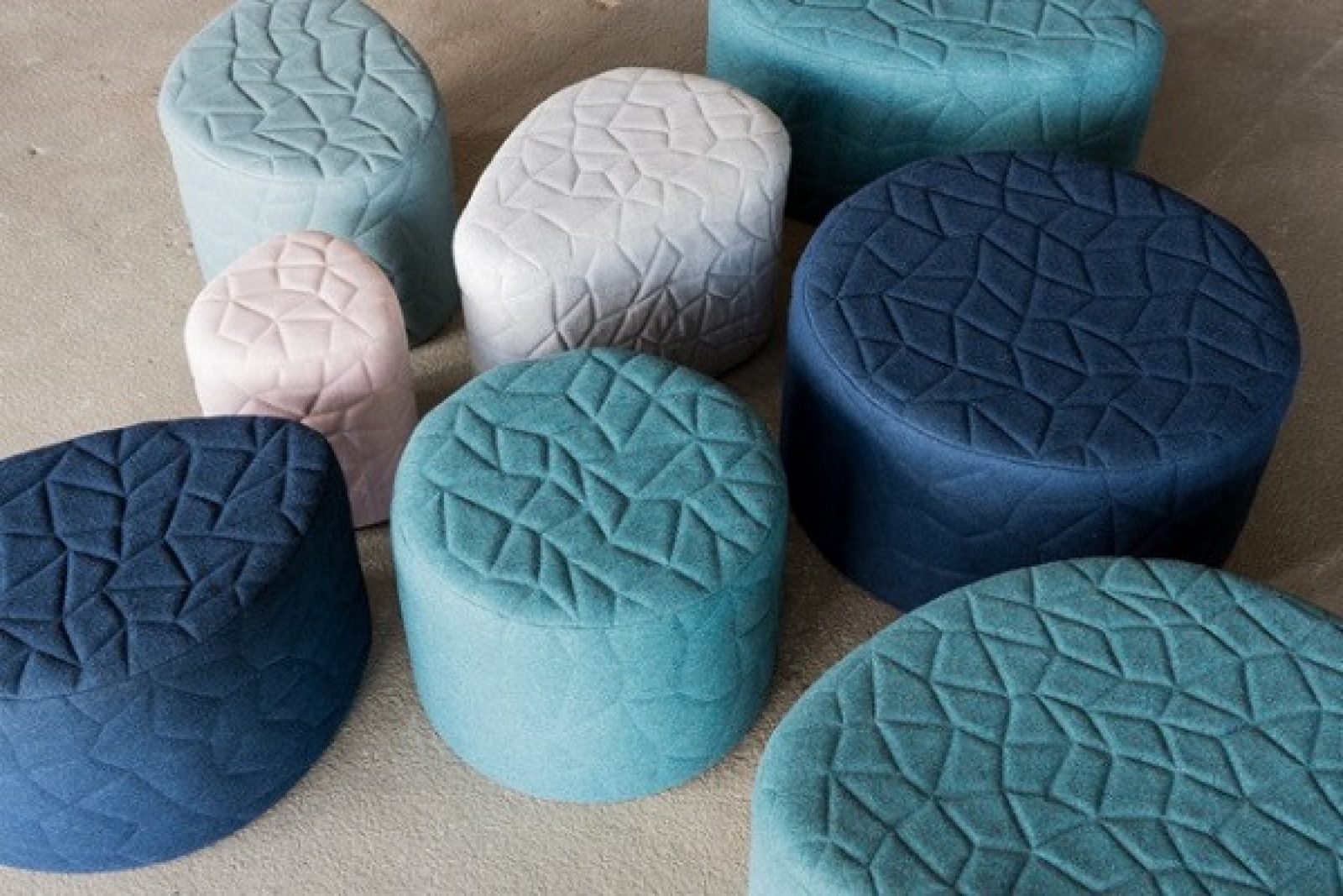 SWOLL sculptural ottomans by Christine Bricknell. Photo: Lean Timms