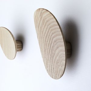 Luna wall hooks by Rene Linssen easily double as wall art. Photo: Lightbulb Studio