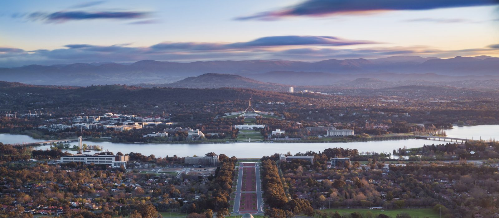 View from Mount Ainslie. Photo: Larissa Dening Photography. Credit: VisitCanberra.