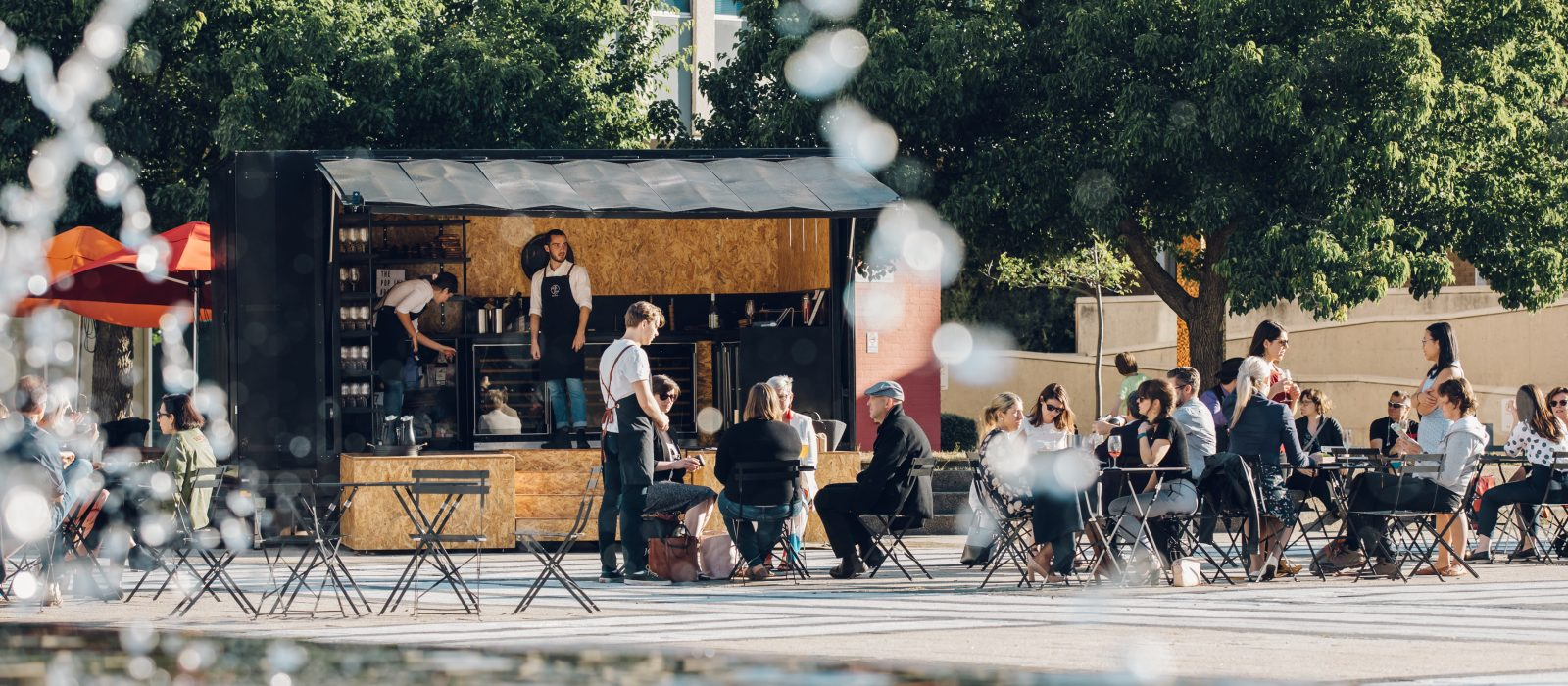 Civic Square pop-up bar. Photo: 5 Foot Photography