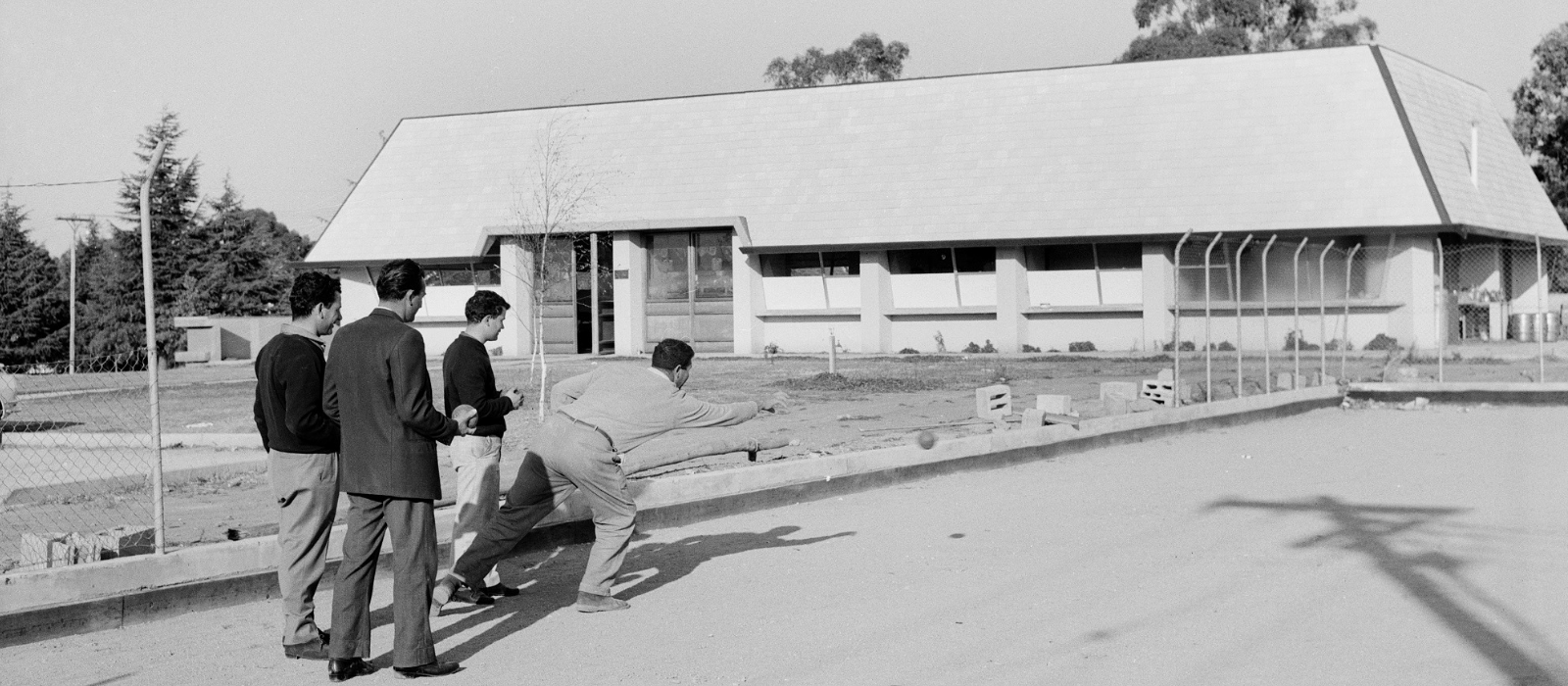 Canberra Italian Club members playing bocce. Photo: from the collection of the National Archives of Australia