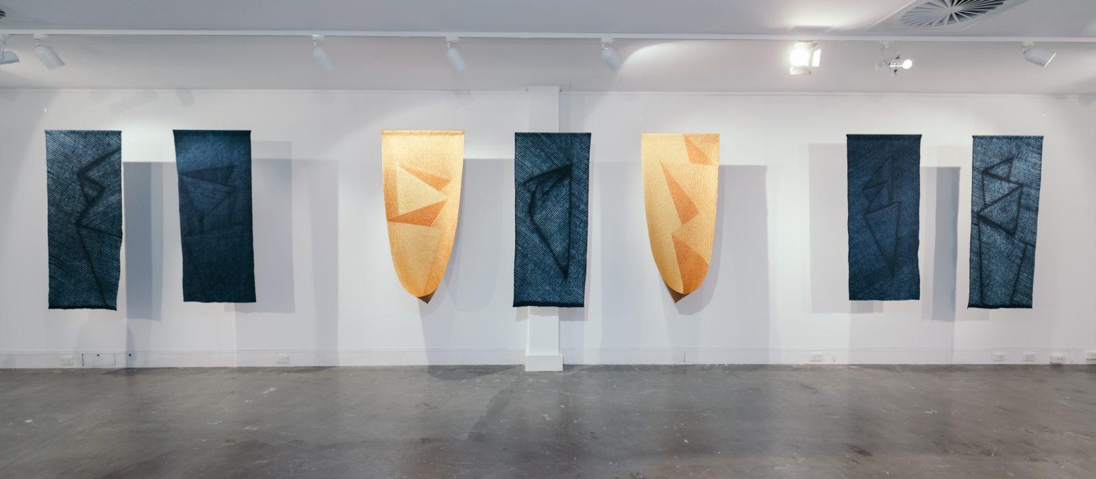 Folding Indigo by Keiko Amenomori-Schmeisser. Photo: Five Foot Photography