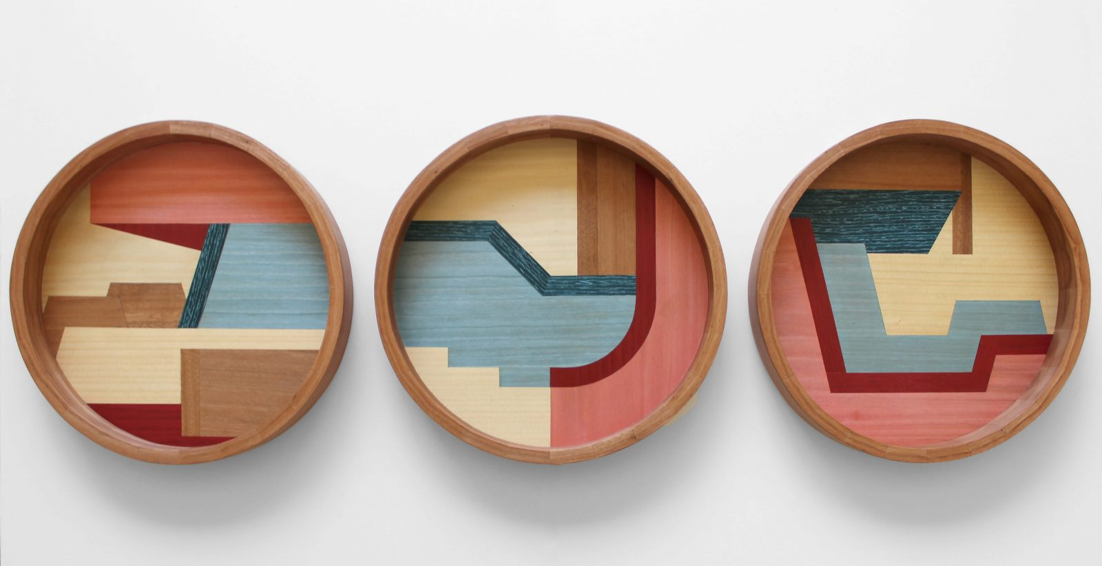 Chelsea Lemon - Taglietti Trays - Blackbutt & Dyed Veneers. Photo: courtesy of the artist