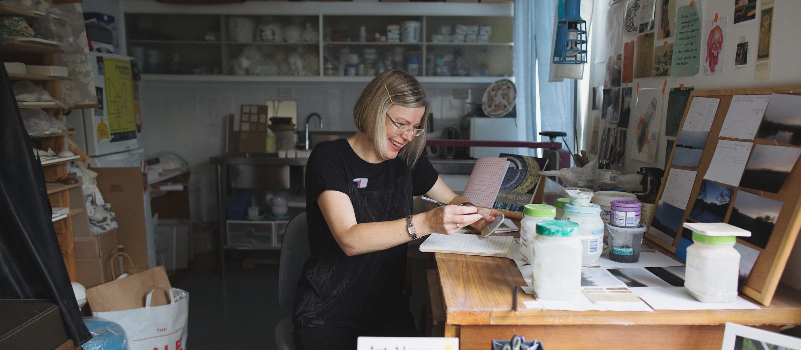 Anne Masters in her studio. Photo: Thorson Photography.