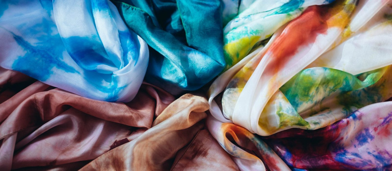 Kirandeep Grewal, silk scarves. Photo: Courtesy of the artist.