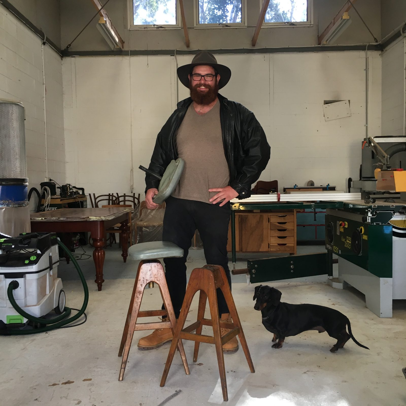 Image: Chris Dalzell, In his Studio, 2019. Photo: Courtesy of the artist