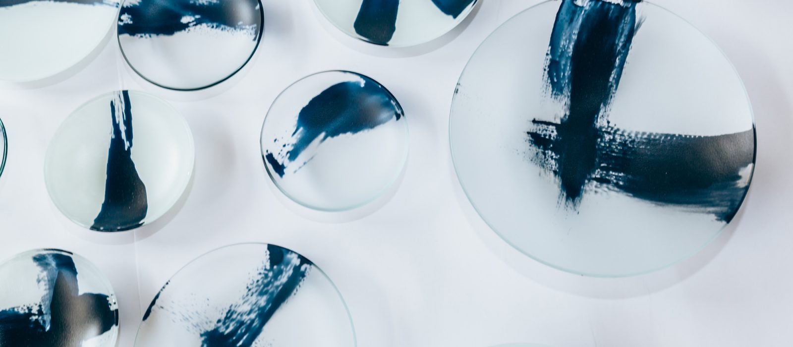 Lisa Cahill, Indigo Swish Bowls, kilnformed glass. Photo: 5 Foot Photography.