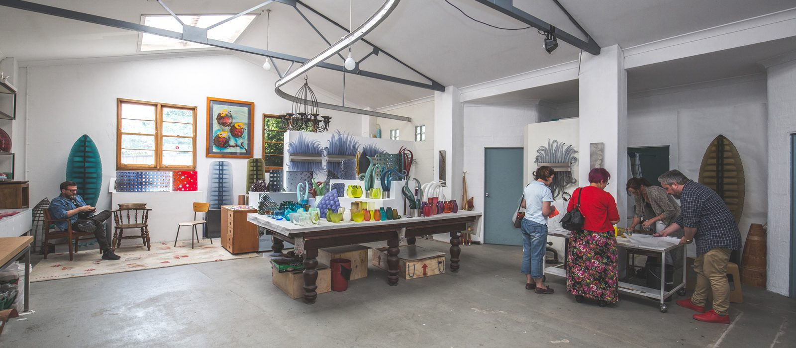Harriet Schwarzrock and Matthew Curtis Studio Space. Photo: 5 Foot Photography