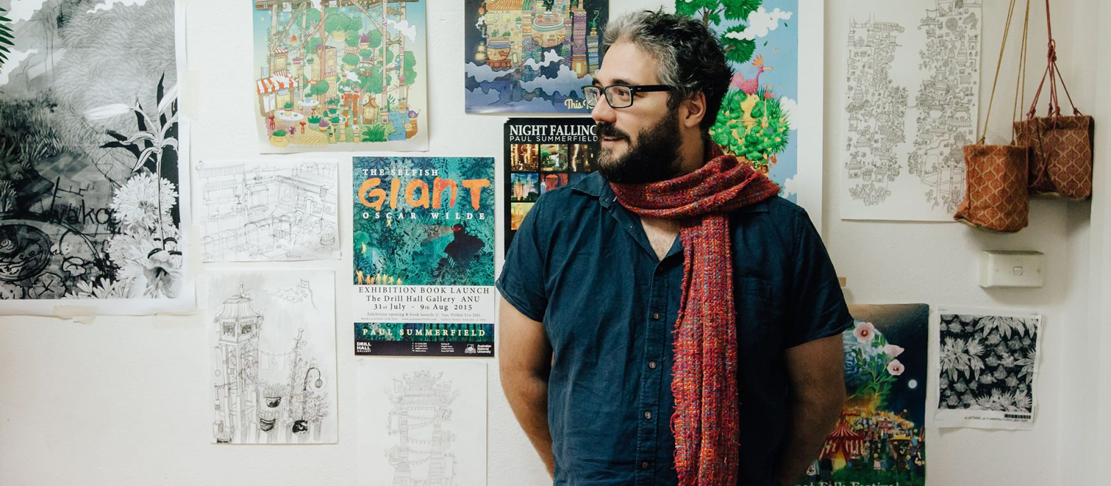 Paul Summerfield in his studio. Photo: Andrew Sikorski
