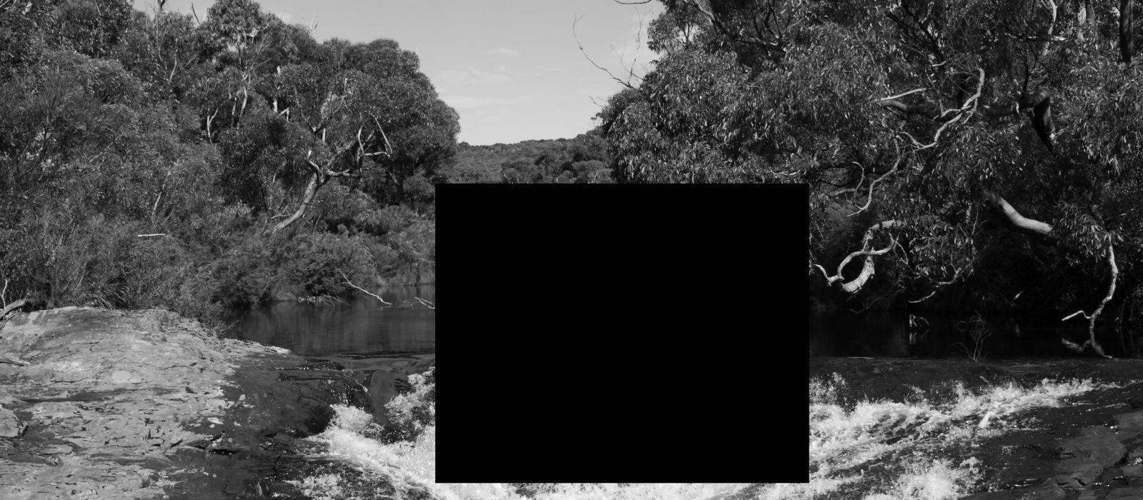 James Tylor, Removed Scenes From an Untouched Landscape 12, Inkjet print on hahnemuhle paper with hole removed to a black velvet void , 50x50cm