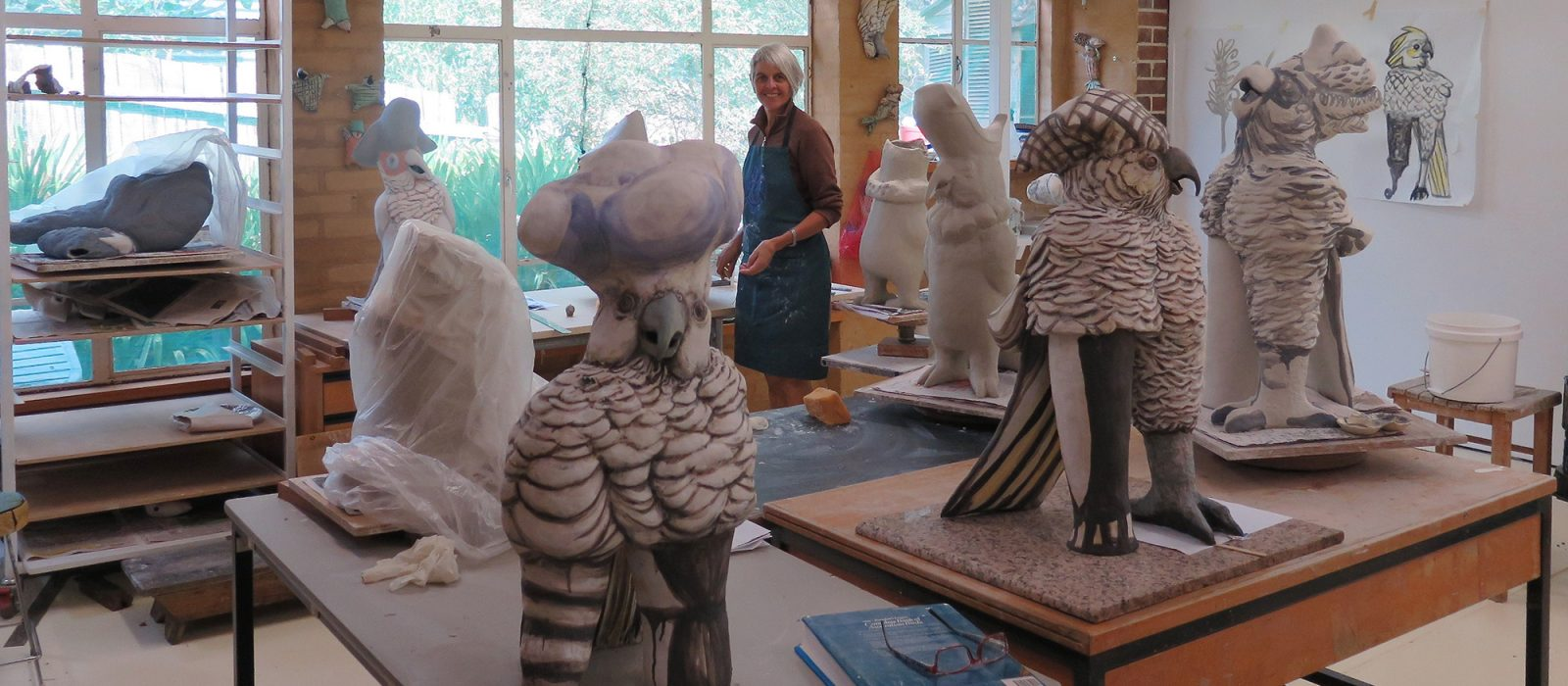 Bev Hogg in her studio. Photo: Courtesy of the artist.