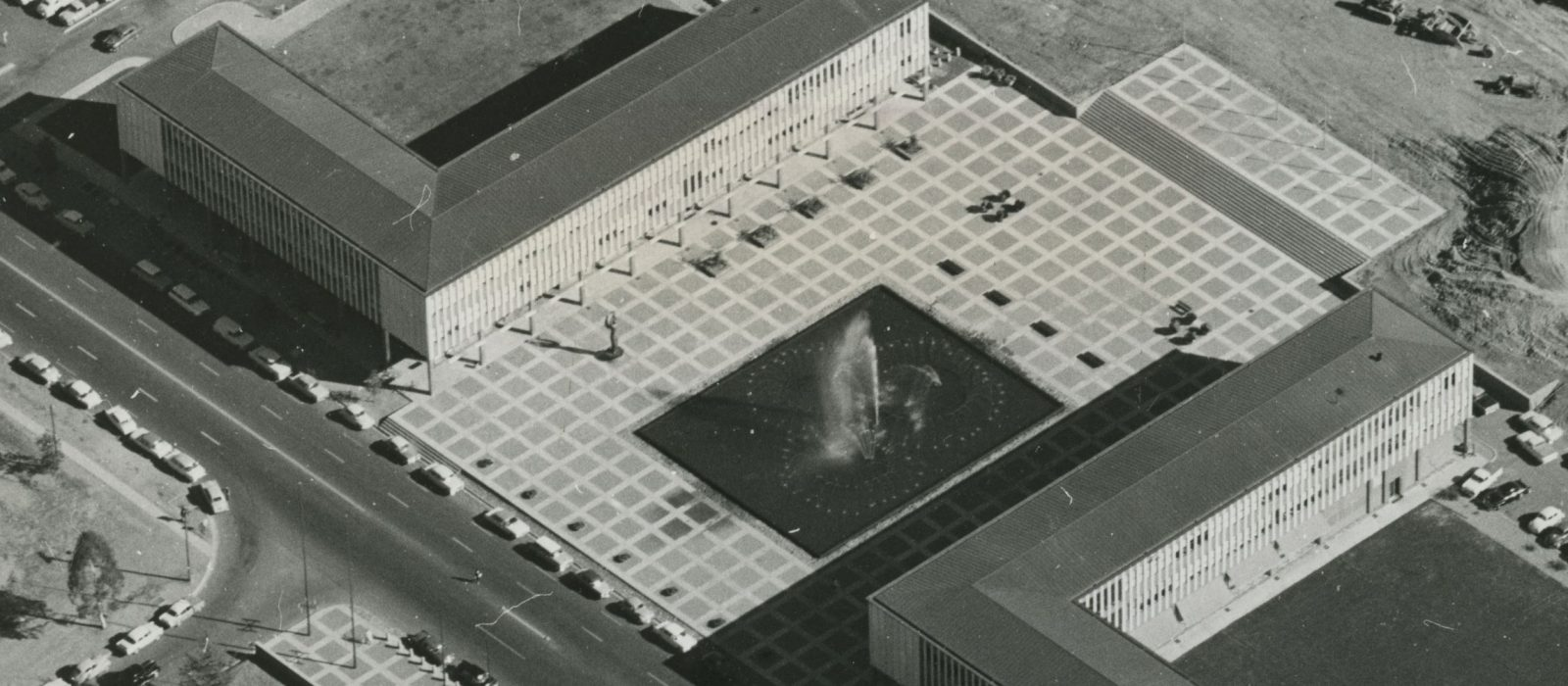 Civic Square Aerial c. 1961, Canberra Press Archive, CMAG Collection.