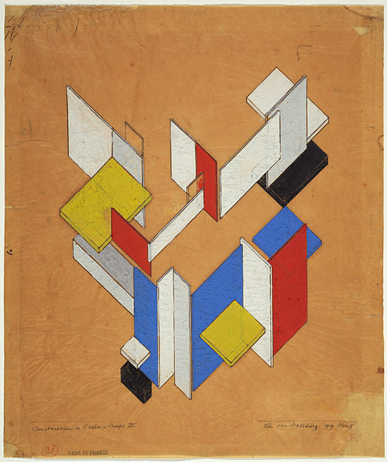 Theo Van Doesburg Space-time construction #3 1923 Donated through the Australian Government's Cultural Gifts Program by Penelope Seidler AM in memory of Harry Seidler AC 2010