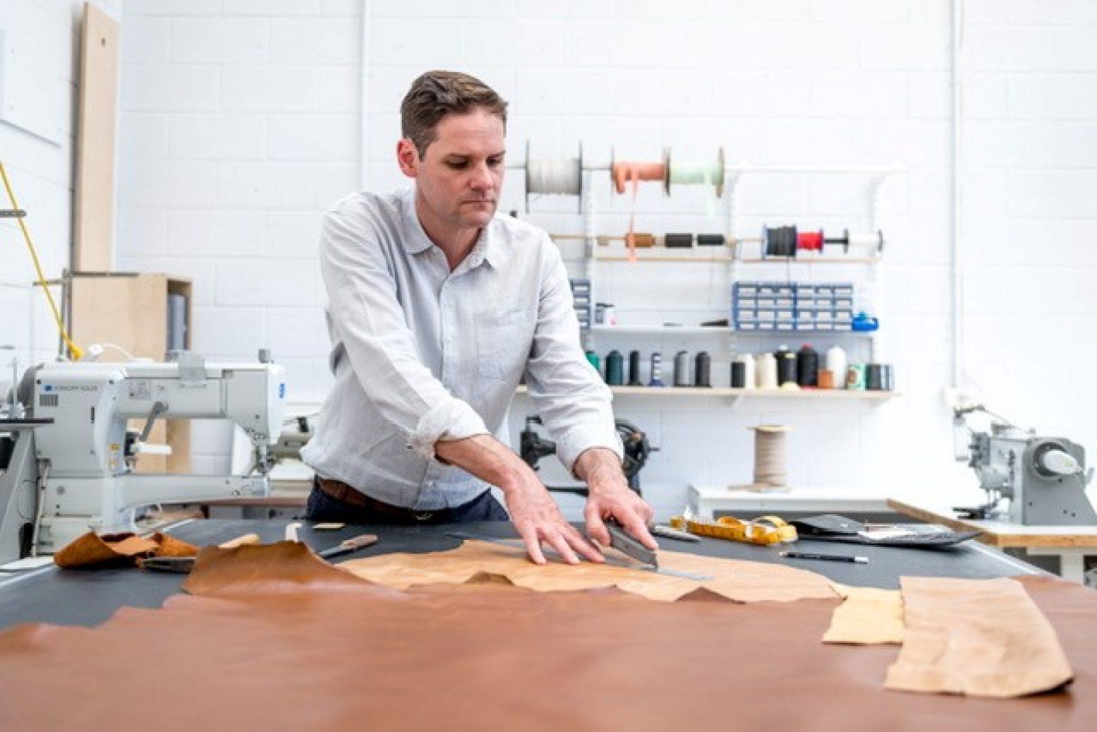 Geordie Ferguson in his studio. Photo: Saini Copp.