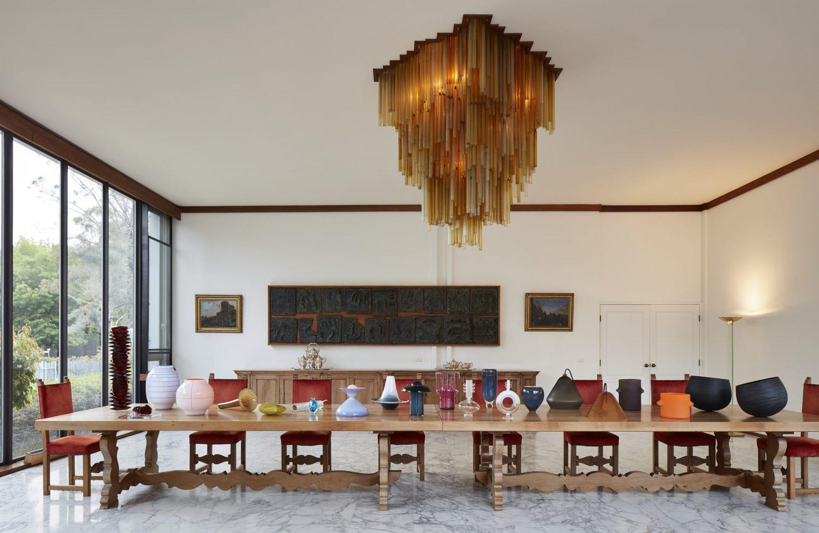 Glass Utopia at the Italian Ambassador's Residence. Photo: Anthony Basheer.