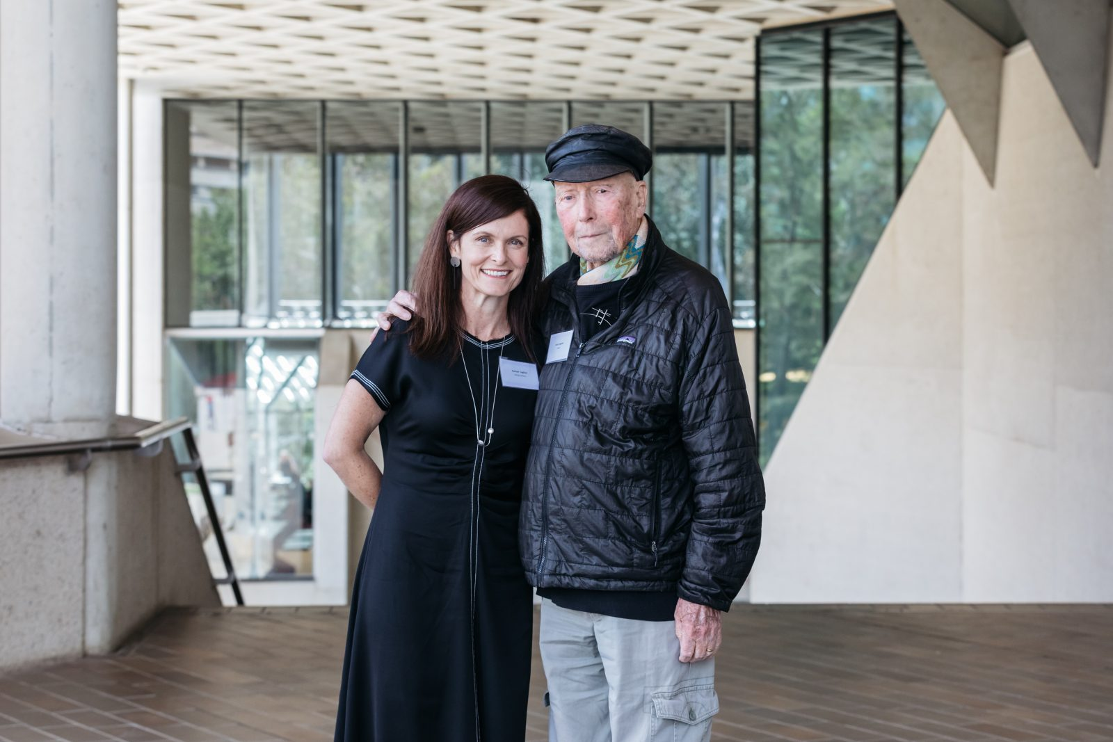 Enrico Taglietti, with CEO Craft ACT and Artistic Director Rachael Coghlan, at the Enrico Taglietti International Symposium, November 2018. Photo: Five Foot Photography
