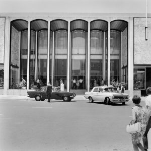 National Archives of Australia: A1200, L59403  TITLE: Industry - Retail Stores - Canberra Scenes - Entrance to the Monaro Mall (David Jones Department Store) a large and modern shopping centre in Civic Centre, the main business and shopping district in Canberra, Australian Capital Territory  PRINCIPAL CREDIT: Australian News and Information Bureau, photographer M Lindsay  1966 - 1966 11661017