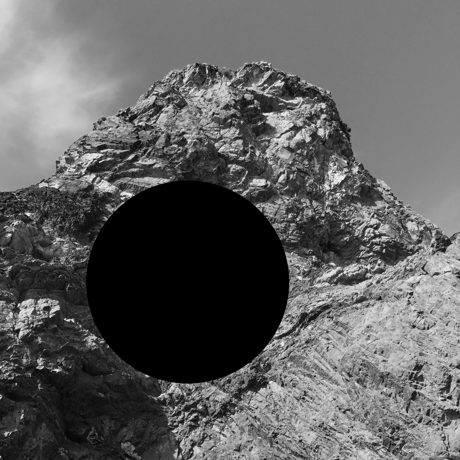 James Tylor, Vanished From an Untouched Landscape 4, 2018, Inkjet print on hahnemuhle paper with hole removed to a black velvet void, 50x50cm.