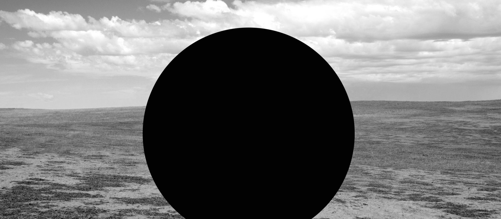 James Tylor, Vanished From an Untouched Landscape 12, 2018 Inkjet print on hahnemuhle paper with hole removed to a black velvet void , 50x50cm