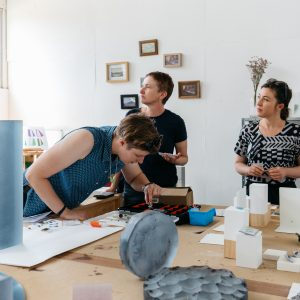 Lucy Palmer open studio 2020. Photo: 5 Foot Photography.